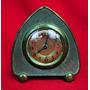 Reloj Despertador Antiguo Bronce Patina Natural Para Reparar