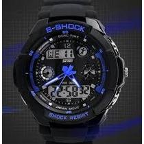 Reloj Digital-analogo Dia-mes-antishock-resistente Agua 30mt