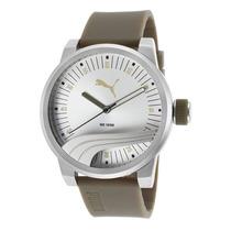 Reloj Puma Grey Silicone Silver-tone Dial - Hombre