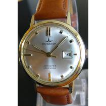 Reloj Cuerda En Oro Aleman Dugena 15 Rubi Año 50 Omega