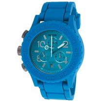 Reloj Nixon 42-20 Chronograph Blue Rubber Blue Dial - Hombre