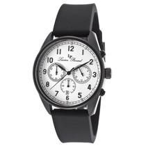 Reloj Moderna Chronograph Black Silicone White Dial