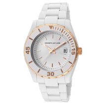 Reloj Kenneth Jay Lane Es 3000 Ceramic Series White Ceramic