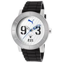 Reloj Puma Es Black Silicone White Dial - Hombre