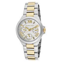 Reloj Michael Kors Es Camile Two-tone Stainless Steel White