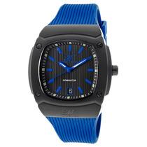 Reloj Magico Dominator Blue Silicone Black Textured Dial -