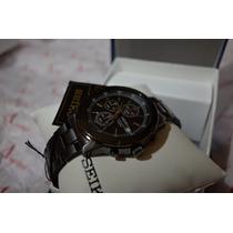 Seiko Black Ionic-plated Chronograph Sks437