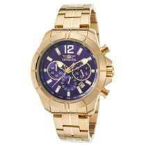Reloj Invicta Es Specialty Chrono 18k Gold Plated Stainless