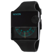 Reloj Nixon Rubber Murf Black Rubber And Dial Teal Accent -