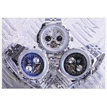 Precioso Reloj Tourbillon Navitimer Tipo Crono Automático