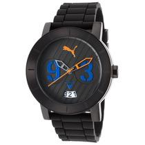 Reloj Puma Es Black Silicone Textured Black Dial - Hombre