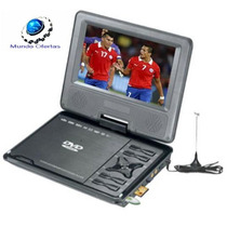 Dvd Con Tv Híbrido, Portátil, Giratorio De 9, Sd / Usb/ Mp3