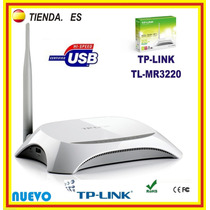 Router Wifi Tp-link Tl-mr3220 Modem 3g 4g Usb N Wireless