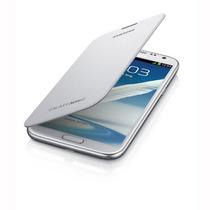 Carcasa Tipo Flip Galaxy Note 2 + Lámina De Pantalla + Envio