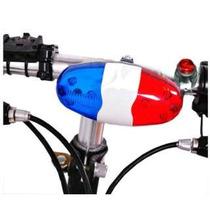 Sirena Bocina Bicicletas Luz Led Con Boton