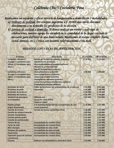 Servicio De Cocteleria Y Banqueteria A Domicilio
