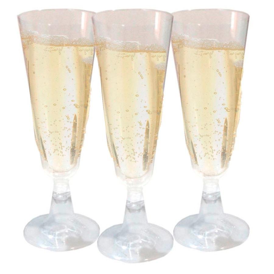 Set 6 copas para champagne plastico matrimonio fiestaclub for Copas para champagne