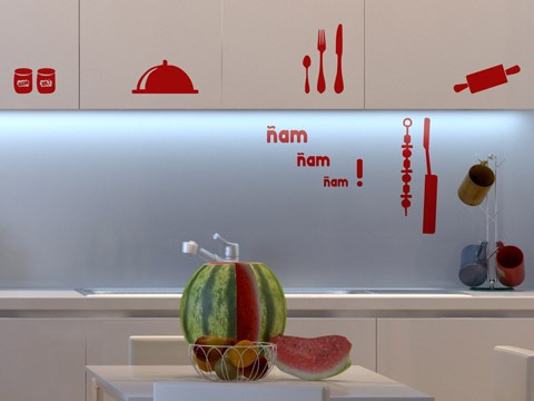Decoraci n e ideas para mi hogar adhesivos decorativos for Adhesivos neveras decoracion