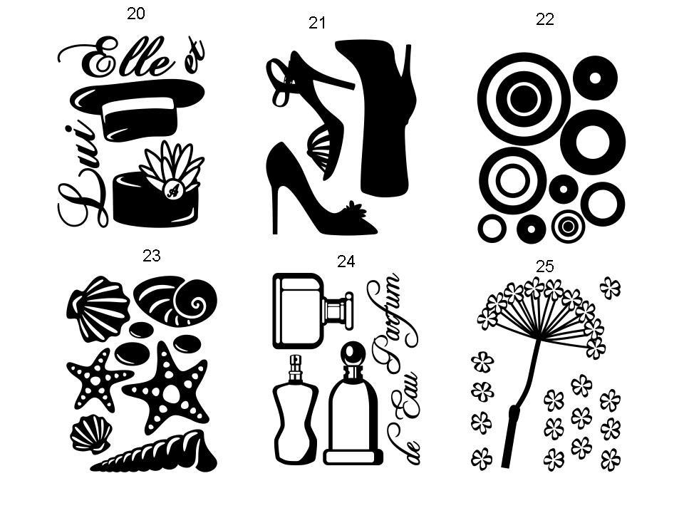 Set de vinilos decorativos para decorar paredes muebles - Programa para pintar paredes ...
