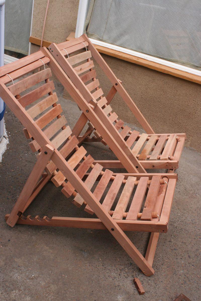 Sillas de playa 100 madera nativa en mercadolibre for Sillas para jugar a la play