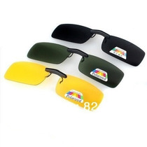 Gafas Clip-on Cubrelentes Polarizadas Negras Verdes Amarilla