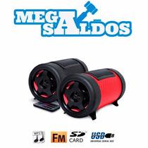 Megasaldos Parlante Subwoofer Bazuka Fm Sd Usb Mp3 Bateria