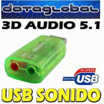 Adaptador Sonido Usb 3d Audio 5.1 Tarjeta - Adaptador