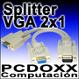 Cable Vga Splitter Tipo Y Para Clonar 2 Pantallas En 1 Pc