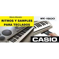 Diskkette Para Teclado Casio Wk1800 Con Ritmos Y Tonos Pack