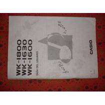 Teclado Wk-1800 1630 1600 Casio Catalogo Original