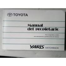 Manual Del Propietario Toyota Yaris Hatchback