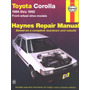 Manual De Taller Toyota Corolla 1984-1992 Haynes.