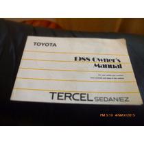 Manual Toyota Tercel Sedan 1988 --en Ingles