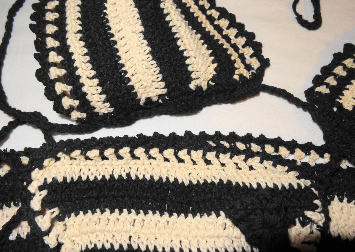 Trajes De Baño Verde Agua:Traje De Baño Bikini Crochet Material Ideal Agua Polyester – $ 29990