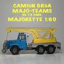 Camión Grúa Majorette Maxi.t20 Majoteams Esc.1:60 Full Metal