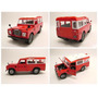 Old Land Rover Diecast Car Model 1/24 Rojo Y Azul