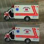 Ambulancia Bomberos Metal Plástico De 13 Cm. Nueva Sin Caja