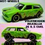Volkswagen Brasillia, 6,5 Cm. Hot-wheels B/estado Colección
