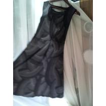 Vestido Còctel Negro Con Puntitos Blancos ,ashanti,talla M L
