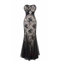 Elegante Vestido Negro Strapless