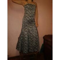 Vestido Largo Strapless Talla 38