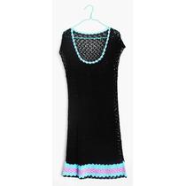 Vestido Playa Crochet, 100% Algodón Talla S