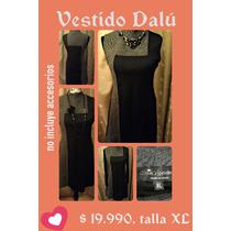 Vestido Dalú/privilege Talla Xl Negro/gris