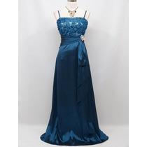 Precioso Vestido Azul, Ideal Fiestas, Galas, Bodas, Eventos