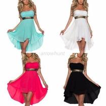 Hermoso Vestido De Fiesta En Colores Negro Y Blanco