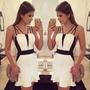 Vestido Blanco Y Negro Elegante Con Tiritas (back To Work)