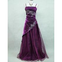 Delicado Vestido Violeta Talla Grande.