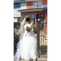 Hermoso Vestido De Novia Casa Blanca , Con Acesorios Includ