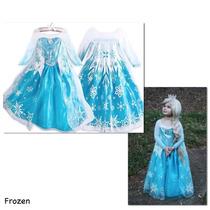 Vestido Elsa De Frozen!! Hermoso!! Talla 8