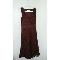 Vestido De Encaje Issac Mizrahi Talla 38